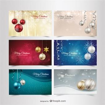 Kerst banners pakken