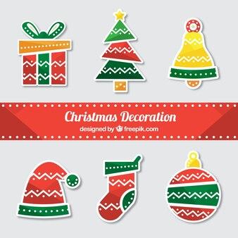 Kerst decoratie met leuke stijl