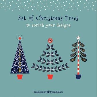 Kerst moderne bomen