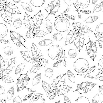 Kerst naadloos patroon ontwerp