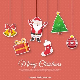 Kerst ornamenten met grappige stijl