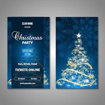 Kerstfeest posterontwerp