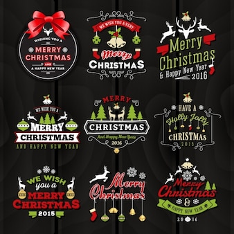 Kerstmis etiketten collectie