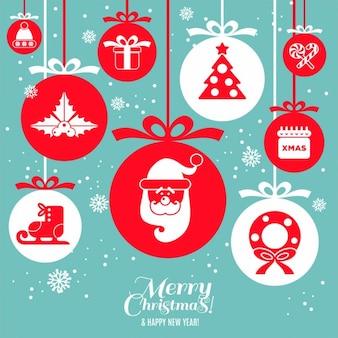 Kerstmis ontwerp pictogrammen instellen