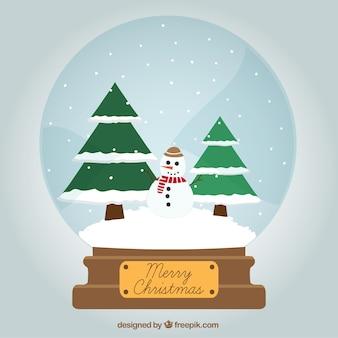 Kerstmis Snowglobe Card
