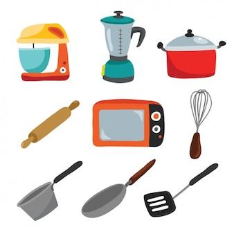 Keukengerei vectoren foto 39 s en psd bestanden gratis for Utensilios de cocina batidora