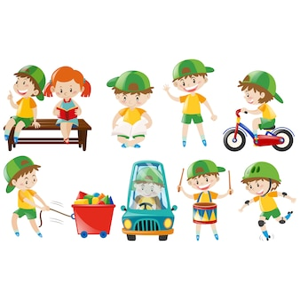 Kinderen spelen collectie