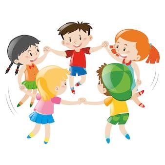 Kinderen spelen ontwerp