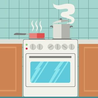 Kitchen achtergrond ontwerp