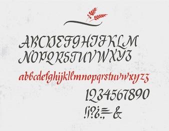 Klassiek cursief alfabet