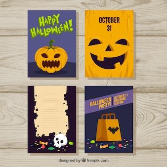 Klassiek pak Halloween kaartjes