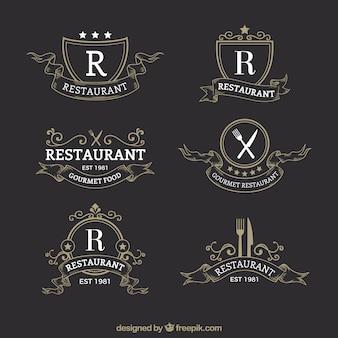 Klassieke en elegante restaurantlogotypes