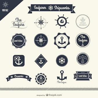 Klassieke zeil-stickers vector