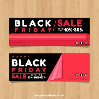 Klassieke zwarte vrijdag banners