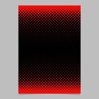 Kleur abstracte halftone cirkel patroon kaart sjabloon - vector briefpapier achtergrond grafisch ontwerp met punt patroon