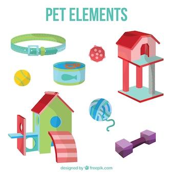 Kleuren huisdier elementen pakken
