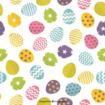 Kleuren paaseieren patroon met vormen