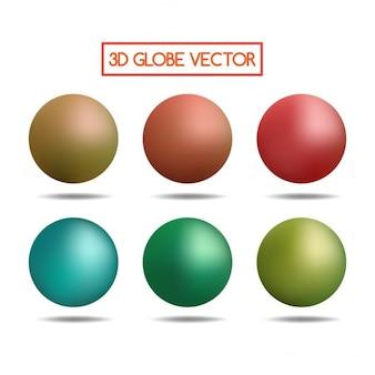 Kleurrijke 3d bollen
