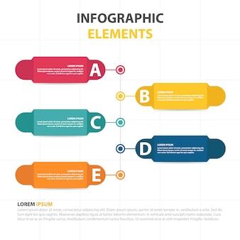 Kleurrijke abstracte cloud business infographic template