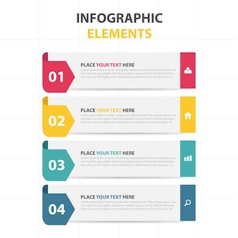 Kleurrijke abstracte driehoek bedrijf infographic template
