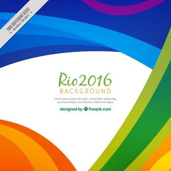 Kleurrijke abstracte rio 2016 achtergrond