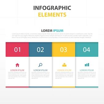 Kleurrijke abstracte zaken infographic template