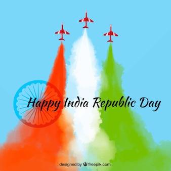 Kleurrijke achtergrond voor Indische Dag van de Republiek