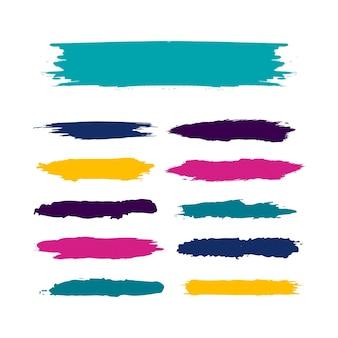 Kleurrijke aquarel set