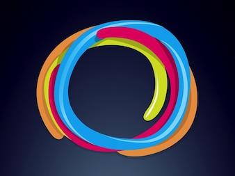 Kleurrijke cirkels logo template vector
