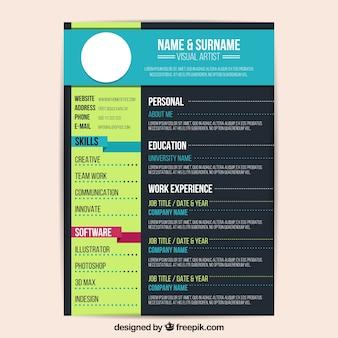 Kleurrijke CV-sjabloon