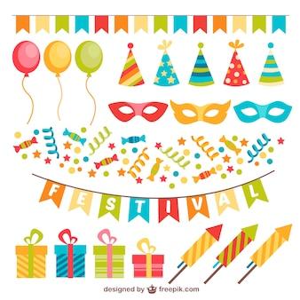 Kleurrijke decoratie voor feest