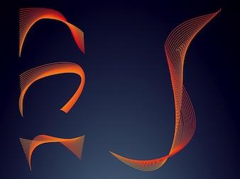 kleurrijke Draadframe decoratieve curve vector