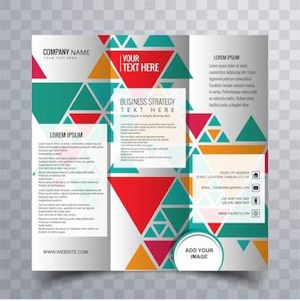 Kleurrijke driebladige brochure