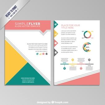 Kleurrijke geometrische flyer