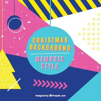 Kleurrijke geometrische Kerst achtergrond