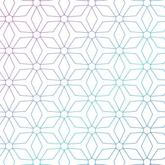 Kleurrijke geometrische lijnen patroon achtergrond