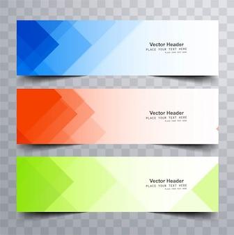 Kleurrijke heldere banners