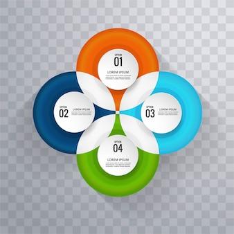 Kleurrijke infografische achtergrond
