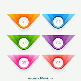 Kleurrijke infographic banners