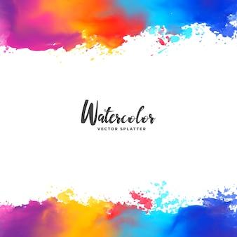 Kleurrijke inkt splattert vector grunge achtergrond