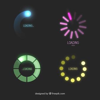 Kleurrijke laden pictogrammen