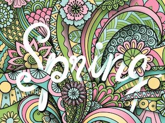 Kleurrijke lente backgorund