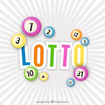 Kleurrijke lotto ballen
