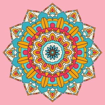 Kleurrijke mandala ontwerp achtergrond