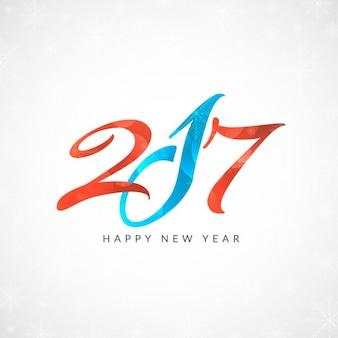 Kleurrijke nieuwe jaar 2017 achtergrond ontwerp