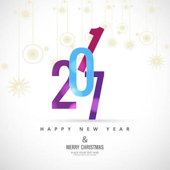 Kleurrijke nieuwe jaar 2017 achtergrond