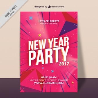 Kleurrijke nieuwe jaar brochure met blauwe lijnen
