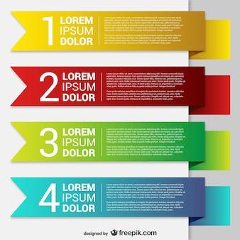 Kleurrijke origami banner sjablonen