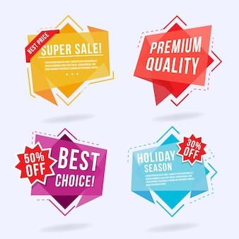 Kleurrijke Origami Design Labels