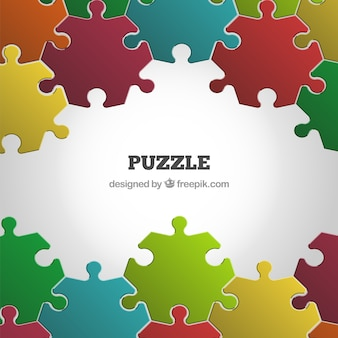 Kleurrijke puzzel achtergrond